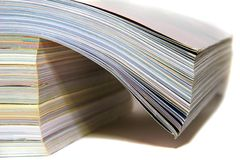 Stack of Magazines. Stack of Colorful Magazines, Media Series Royalty Free Stock Photo