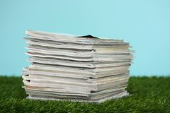 Stack Of Magazines Stock Photos