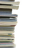 Side View Of A Stack Of Magazines Stock Photo - Image ...