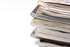 A stack of magazines Royalty Free Stock Photos