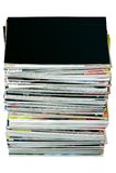 Stack of magazines royalty free stock photo