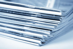 Stack of magazines Royalty Free Stock Photos