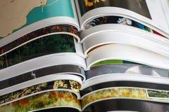 Stack of magazines Royalty Free Stock Image