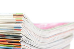 A stack of magazines, close-up. Stock Photo
