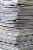 Stack of magazines close up Stock Images