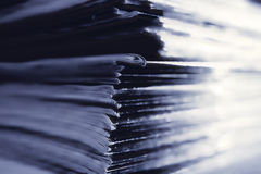Stack of magazines close up Stock Photos