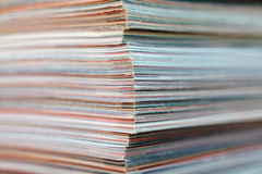 Stack of magazines detail. Recycle concept. Royalty Free Stock Images