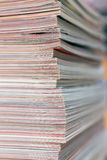 Stack of magazines detail. Recycle concept. Royalty Free Stock Photo