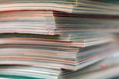 Stack of magazines detail. Recycle concept. Stock Image