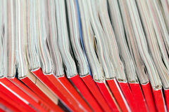 Stack of magazines detail. Recycle concept. Stock Photo