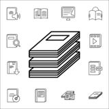 a stack of magazines icon. Books and magazines icons universal set for web and mobile royalty free illustration