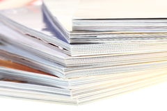 Stack of magazines isolated Royalty Free Stock Images