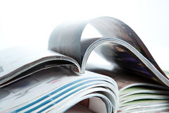 Stack of magazines on the table Stock Images
