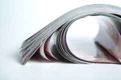 Stack of magazines on the table Royalty Free Stock Image