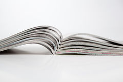 Stack of magazines on the table Stock Photos