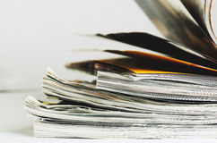 Stack of magazines to turn pages Royalty Free Stock Photography