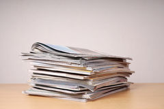 Stack of magazins and catalogs Stock Image