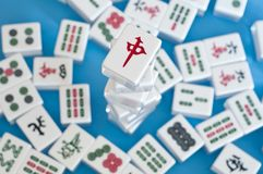 Stack of mahjong tiles Royalty Free Stock Photo
