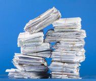 Stack of mail stock photos