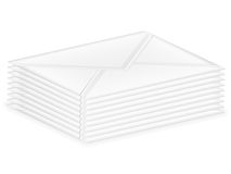 Stack mail envelopes Royalty Free Stock Image