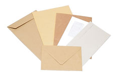 Stack of mail envelopes Royalty Free Stock Photos