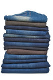 Stack of male jeans Stock Photography