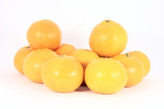 Stack of mandarines Stock Photography
