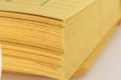 Stack of manila envelopes closeup Royalty Free Stock Photography