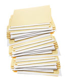 Stack of Manila Folders Royalty Free Stock Image