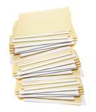 Stack of Manila Folders Royalty Free Stock Image