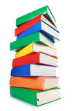 Stack of many colorful books Royalty Free Stock Photos
