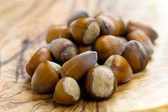 Stack of many hazelnuts , close up shot Stock Images