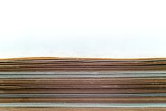 Stack of many papers royalty free stock photos