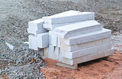 Stack of marble slabs Stock Images