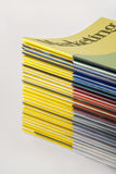 Stack of marketing magazines (Path/See also) Royalty Free Stock Image