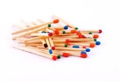 Stack of Matches Royalty Free Stock Photography