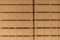 The stack of MDF boards tied with a ribbon royalty free stock photo