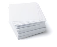 Stack Of Memo Papers Stock Photography