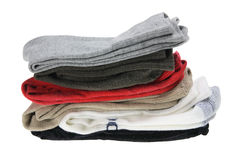 Stack of Men's Socks Stock Image