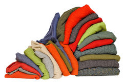 Stack of men's winter or fall sweaters Royalty Free Stock Image