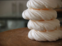 Stack of meringue nests Stock Photos