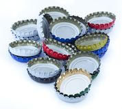 Isolated Metal Bottle Caps Pile Stock Photography