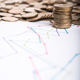 Stack of metal coins Stock Image