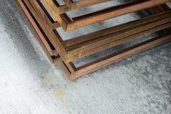 Stack of  metal frame Royalty Free Stock Image