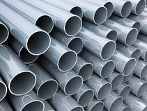 Stack of metal pipes Royalty Free Stock Photography