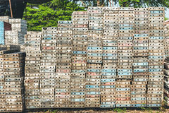 Stack of metal platform use for scaffolding Royalty Free Stock Photography