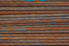 Stack of the metal rusty or steel rod Stock Photography