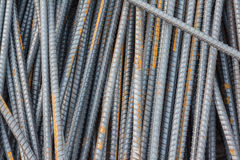 Stack of the metal rusty or steel rod Royalty Free Stock Photos