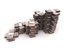 Stack of Mexican Pesos Stock Photos