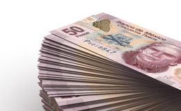 Stack of Mexican Pesos Royalty Free Stock Images